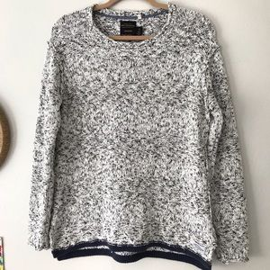 Navy/White Slouchy Sweater CPO Provisions